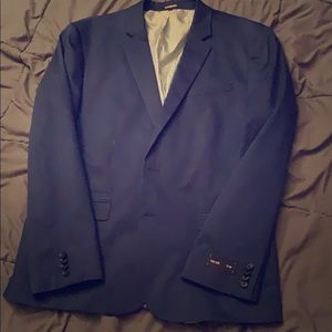 Express Sateen Blue Suit Jacket, Size 46 R Slim